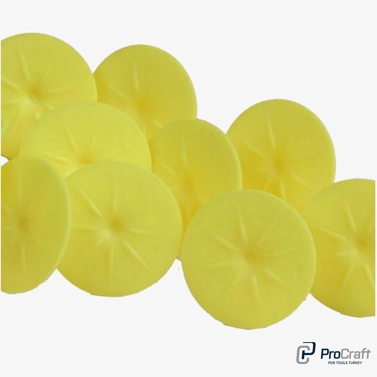 Procraft Yellow Round Tabs 1 Packet 10 Pcs