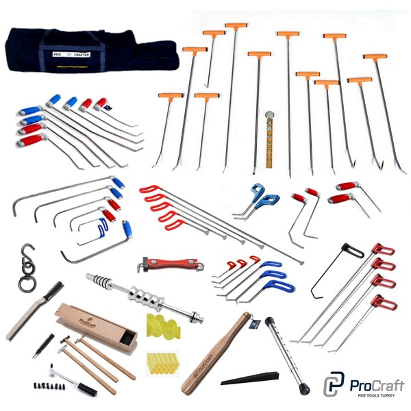 Pdr Tools Sets Stainless Steel Best Quality Dent Repair Set Paintless Dent Removal Pdr Hook Set ProCraft Pdr Tools